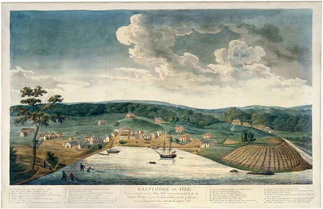 H16 Baltimore in 1752, Aquantint engraved by William Strickland,