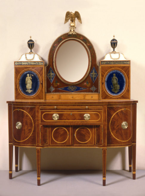 A lady's cabinet dressing table.