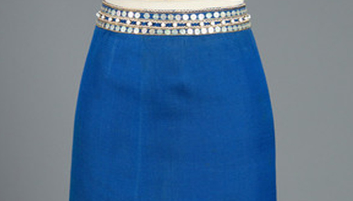 Blue Duchess of Windsor dress bottom